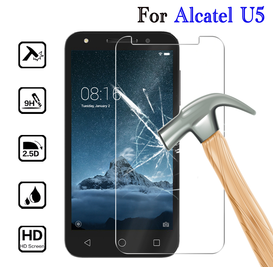 2PCS Tempered Glass 9H Protective Film Screen Protector phone for <font><b>Alcatel</b></font> U5 3G 4G HD 4047X 4047D 5044Y 5044D <font><b>5044T</b></font> 5044I 5047D image