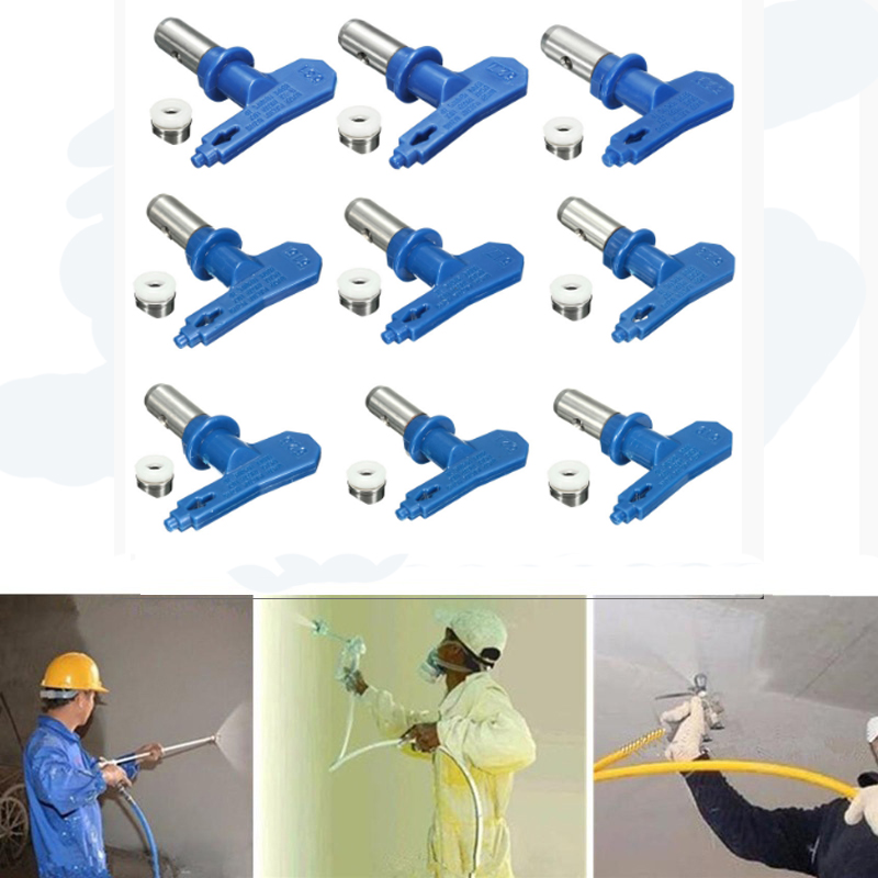 Blue 5 Series Airless Spray Tips Spray Nozzle Spraying Machine Accessories For Home Graden Power Tools