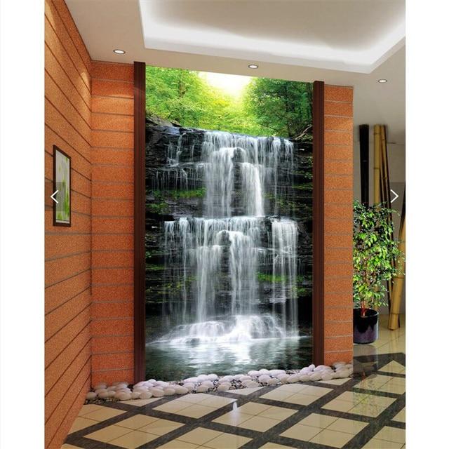 beibehang wall paper 3d art mural HD waterfall natural beauty