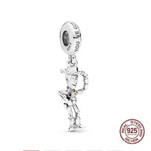 2019 New 925 Sterling Silver Beads Pixar Toy Story Woody Pendant Charms fit Original Pandora Bracelets Women DIY Jewelry 925 sterling silver beads toy story jessie pendant charms fit original pandora bracelets women diy jewelry