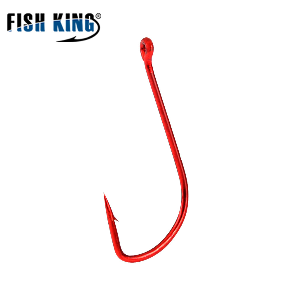 FISH KING 50pcs Fishing Hook SODE Barbed Fishhook High Carbon Steel Bent Baitholder AD Sharp Ringed Carp Hook Fly Fishing Tackle