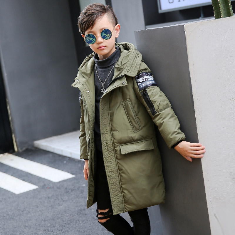 New 2017 fashion Boy's duck down jackets coats long model warm Kids Outerwear Children's winter clothes Boy's thick down jacket new 2017 fashion girls winter coats female child down jackets top quality outerwear medium long thick 90% duck down parkas