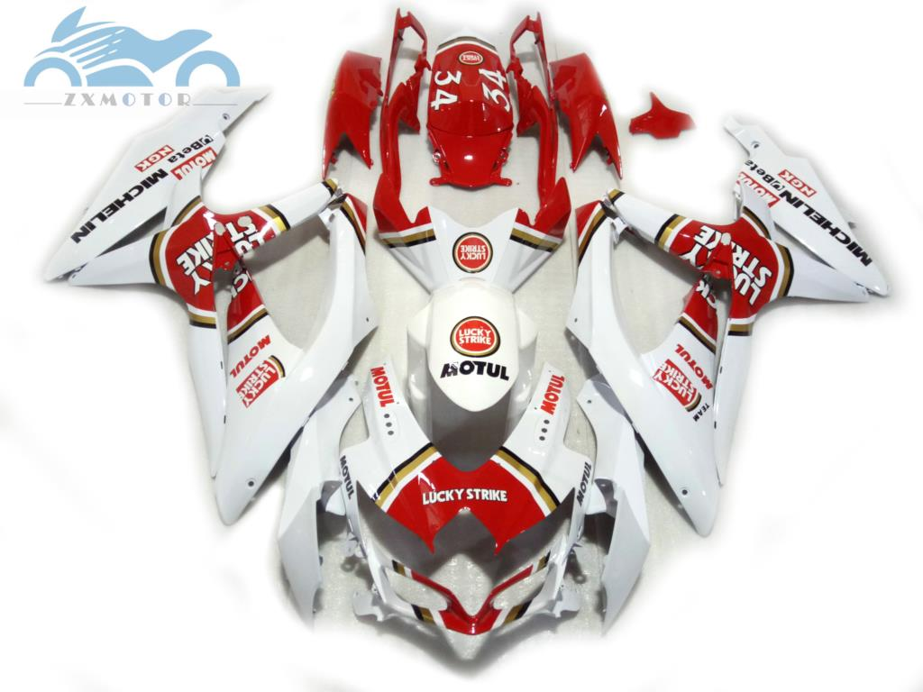 ABS Fairing kits for SUZUKI <font><b>2008</b></font> 2009 2010 <font><b>GSXR</b></font> <font><b>600</b></font> R750 <font><b>K8</b></font> motorcycle road racing fairings kit GSXR750 <font><b>600</b></font> 08-10 Lucky Strike image