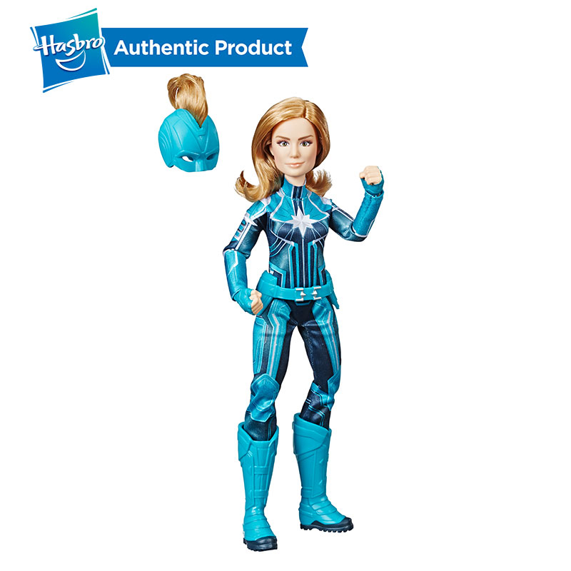 Hasbro 11.5-inch Captain Marvel Starforce Super Hero Doll with Helmet Accessory Action Figure Collectible Model Girl Boy ToyHasbro 11.5-inch Captain Marvel Starforce Super Hero Doll with Helmet Accessory Action Figure Collectible Model Girl Boy Toy