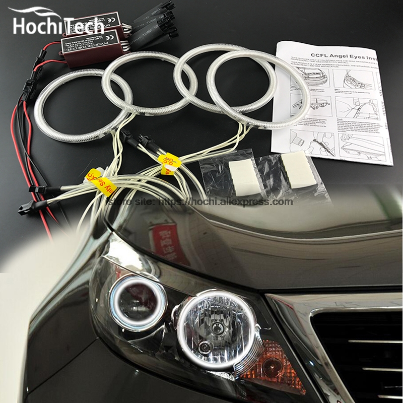 цена на HochiTech Excellent CCFL Angel Eyes Kit Ultra bright headlight illumination for Kia Sportage 2011 2012 2013 2014