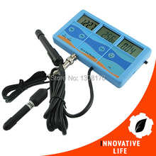 Multi-function 7-in-1 ORP mV PH CF EC TDS ppm Fahrenheit Celsius Meter Tester Thermometer Water Quality Monitor