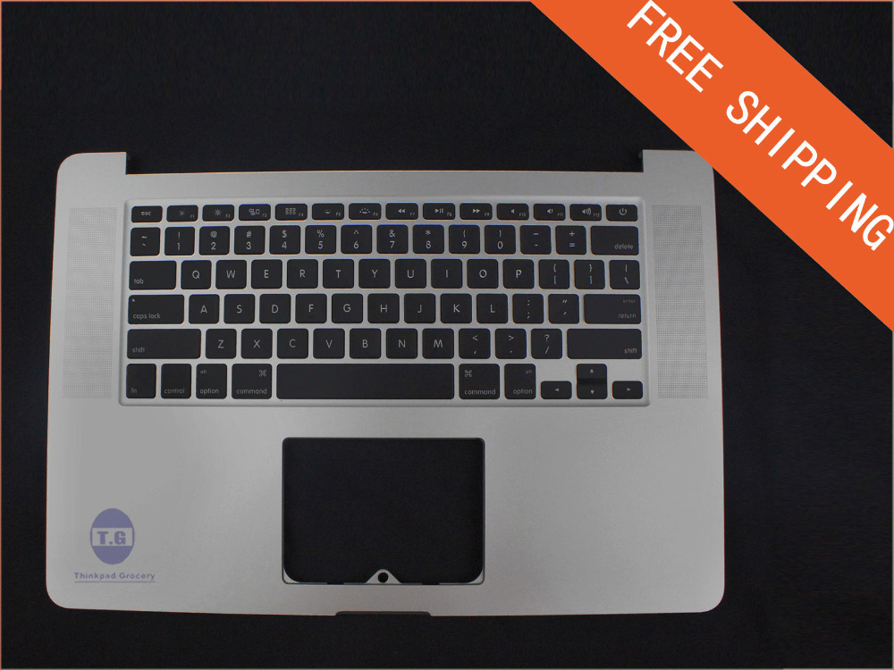 NEW For Macbook Pro Retina 15 A1398 2013 Top case Palmrest with keyboard backlight Free Shipping