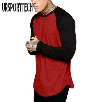 URSPORTTECH Brand Fashion Men's Long Sleeve T-shirt Autumn Winter Casual Vintage Patchwork Top Blouse Cotton Homme tshirt S-4XL - DISCOUNT ITEM  20% OFF All Category