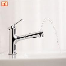 Xiaomi DABAI bassin de salle de bain lavabo w/Pull Out Rinceuse Pulvérisateur Gargarisme Brossage 2 Mode robinet mélangeur robinet de baignoire Froide et Chaude