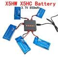 3.7 В 850 мАч Липо Батареи + Зарядное устройство usb-разъем для SYMA SYMA X5HW X5HC RC Drone Мультикоптер Запасных Комплект деталей