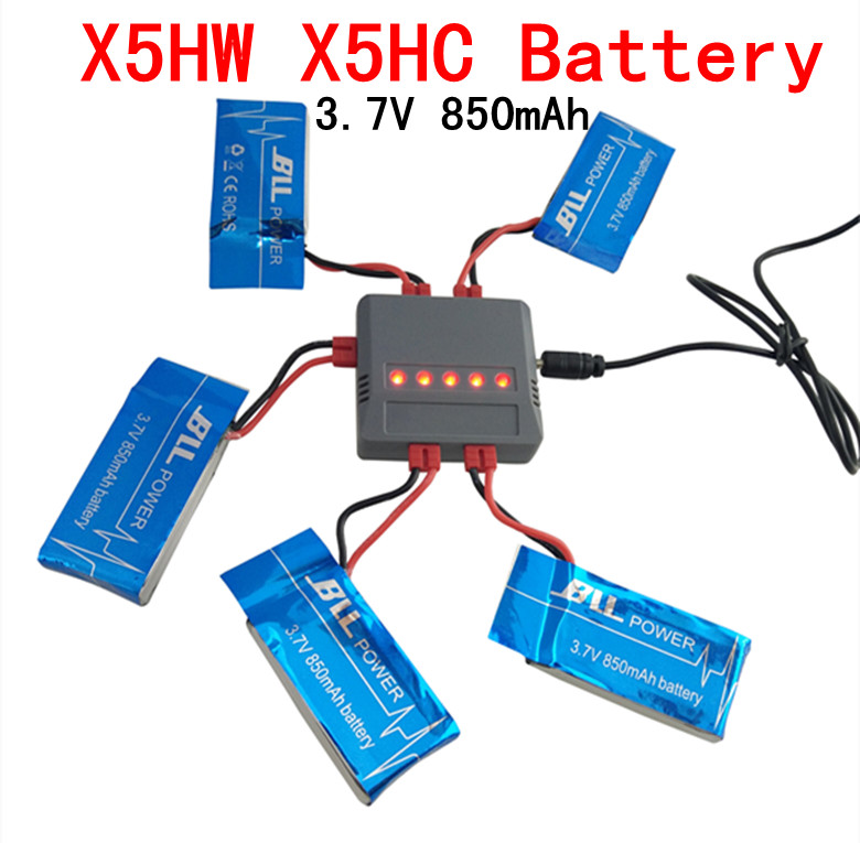 3 7V 850mAh LiPo Battery AC Charger usb Plug for SYMA X5HW SYMA X5HC RC font