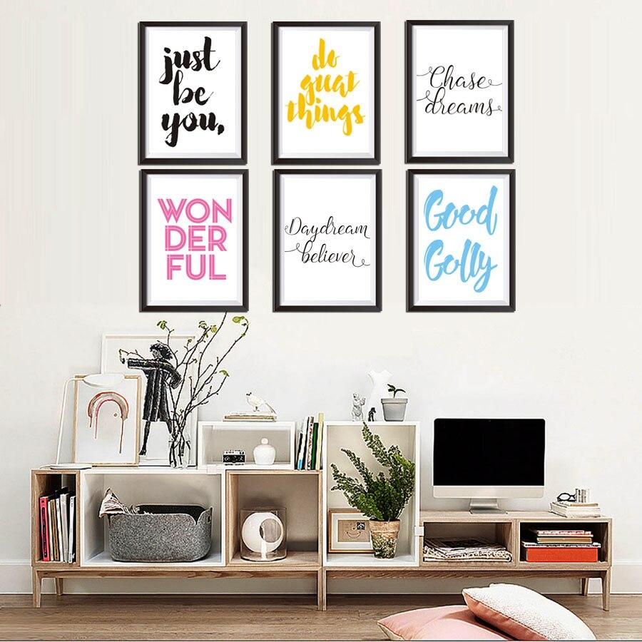 Приключения просто быть вы английских слов прекрасным украшением Плакаты и принты холст картины для Спальня офис отель наклейки