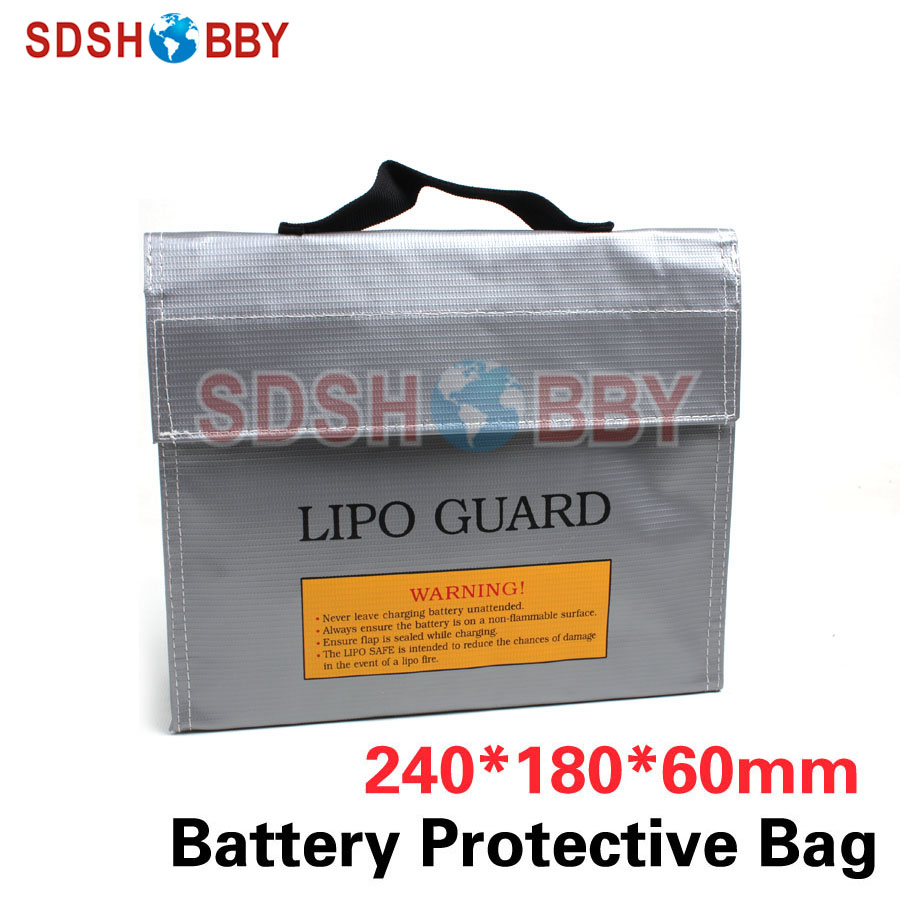LiPo Guard LiPo Battery Safe Bag Explosion-proof Fireproof Anti-explosion Protective Bag Storage Bag Large Size 240*180*60mm explosion proof lithium battery bag case 220 180 mm