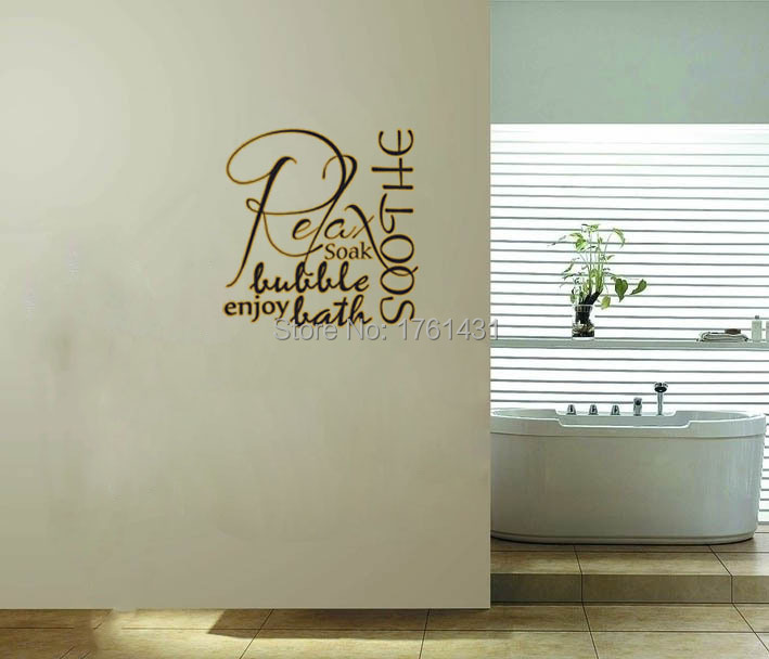 Decals For Bathroom Walls Wall Art Designs Word Art For Walls - Custom vinyl wall decals sayings for bathroom