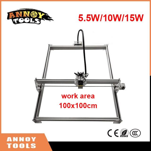New DIY 1 1m Big Working Size Laser Engraving Machine 300mw 500mw 1000mw 1600mw 2500mw 2800mw