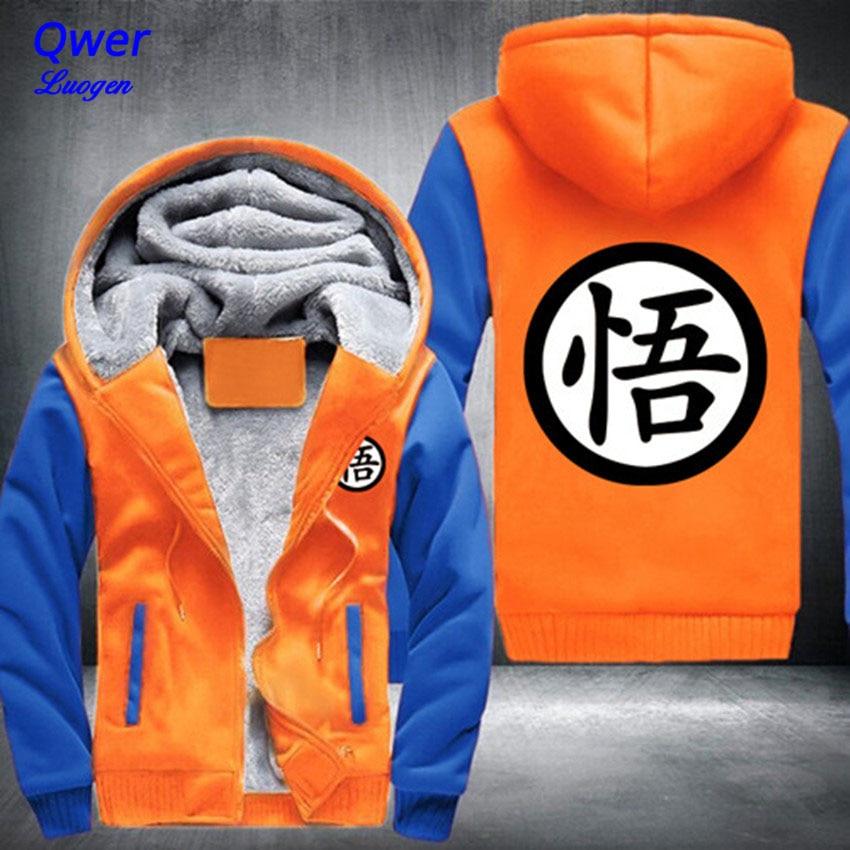 EUA tamanho Das Mulheres Dos Homens Projeto Novo Anime Dragon Ball Z GT Goku Casaco Dos Desenhos Animados Engrosse Com Capuz Zipper Fleece Inverno Unisex casaco