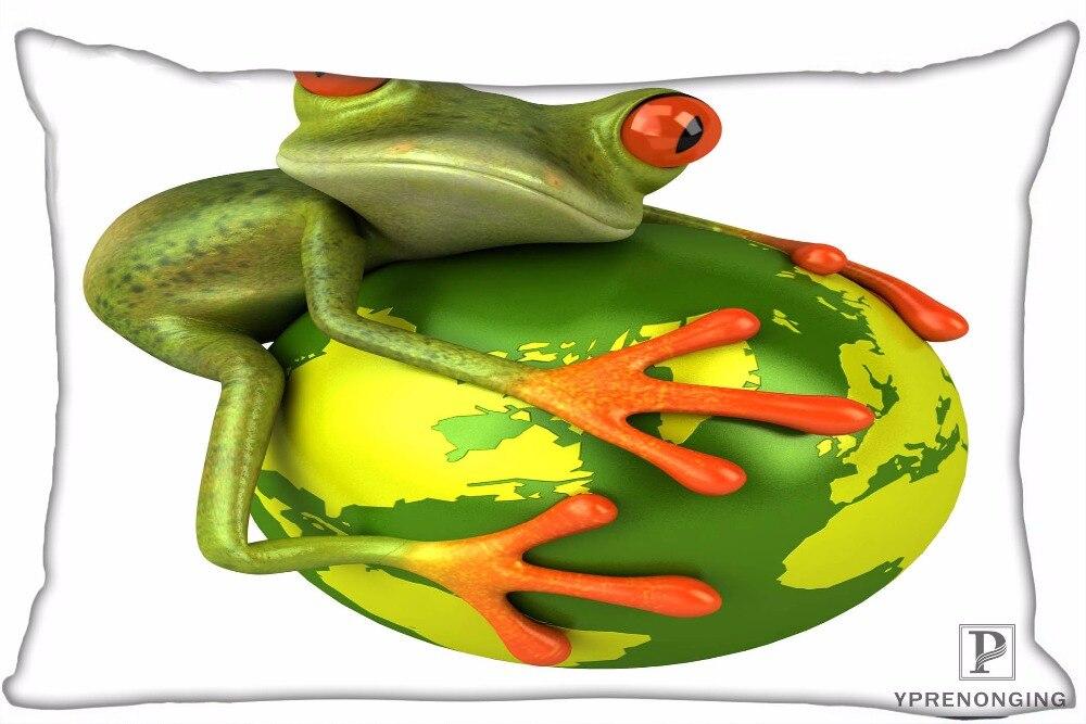Best Custom The Frog Kindoom Pillow Covers Cases Rectangle Pillowcases zipper 35x45cm (One Side Print)180516-sina-09