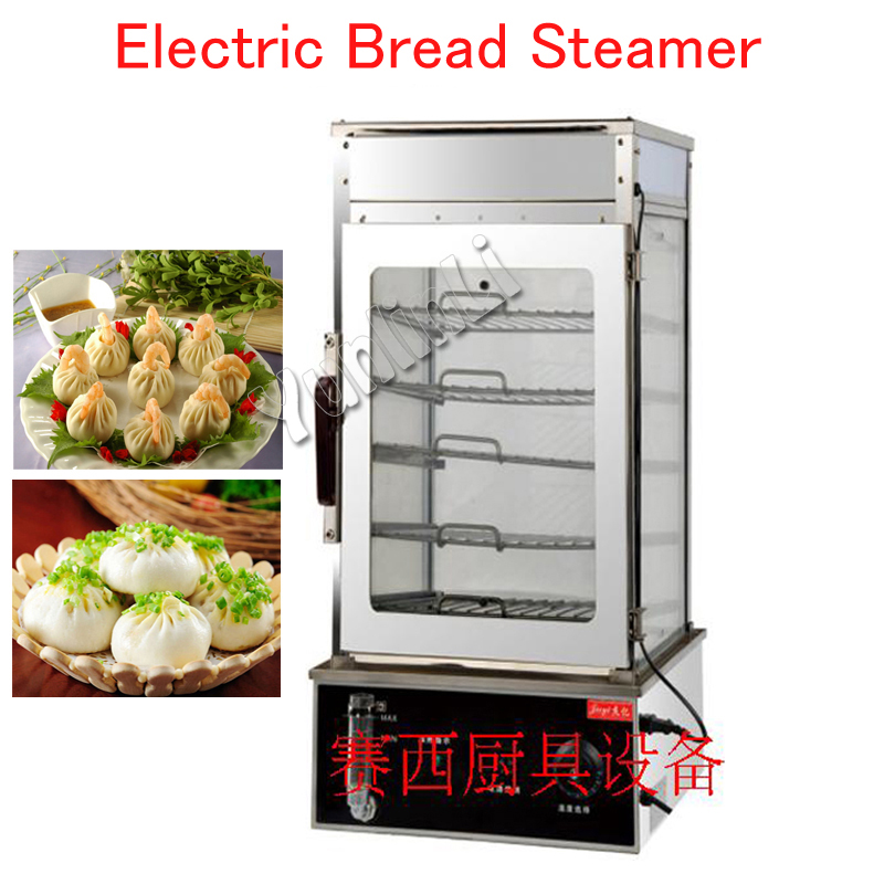 Electric Bread/Bun Steamer 5 Layers Food Warmer Machine Commercial Food Steaming/ Heating Machine  FY-500 ...