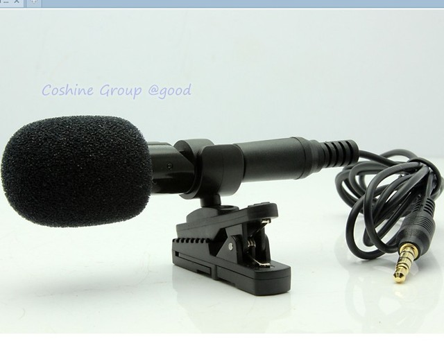 Free Shipping!!M6 Brand Professional Stereo Recording 3.5mm Micphone Mic For IOS Smart Phone