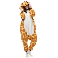 2017 Fleece Pijamas Mujer Animal Giraffe Cosplay Pajamas Onesie For Adults Women Unisex Couple Sleepwear Sell