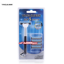 5A+ YINGJILI 1 handle 5 blades shave machel 3 blade Men's manual razors Widely used in five continents