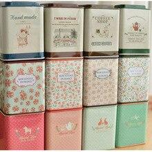 Маленькая жестяная коробка для чая, металлическая коробка для хранения продуктов, коробка для ювелирных изделий, коробка для конфет