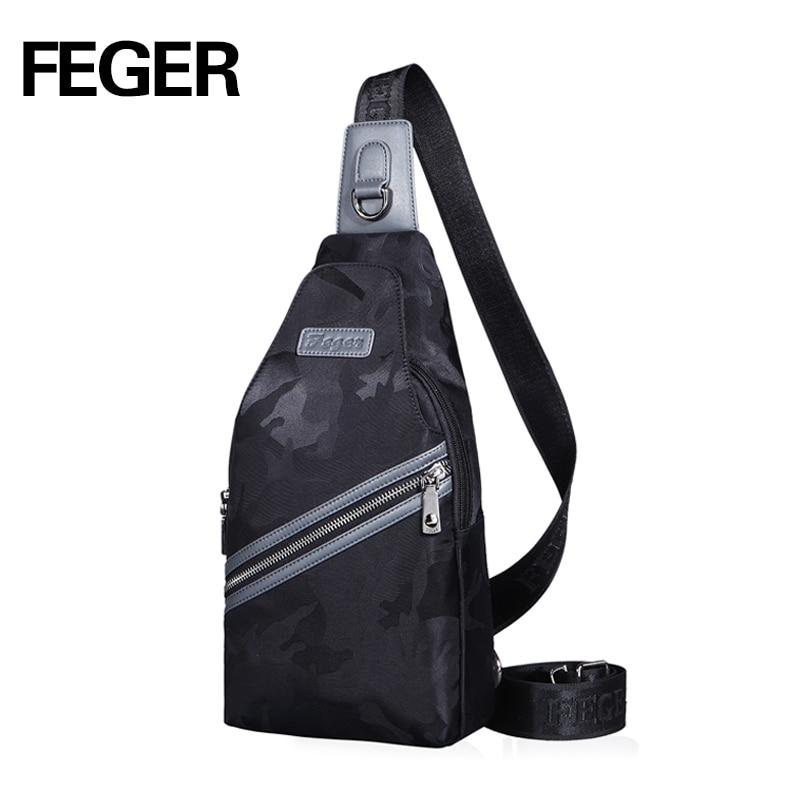 Feger Fashion Brand Men Chest Pack Handbag Oxford Messenger Bag comouflage Crossbody Bags Sling Single Shoulder Strap