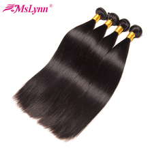 Mslynn Hair Brazilian Straight Human Hair Bundles 1PC 10″-28″ Natural Color Non-Remy Hair Weaving Free Shipping