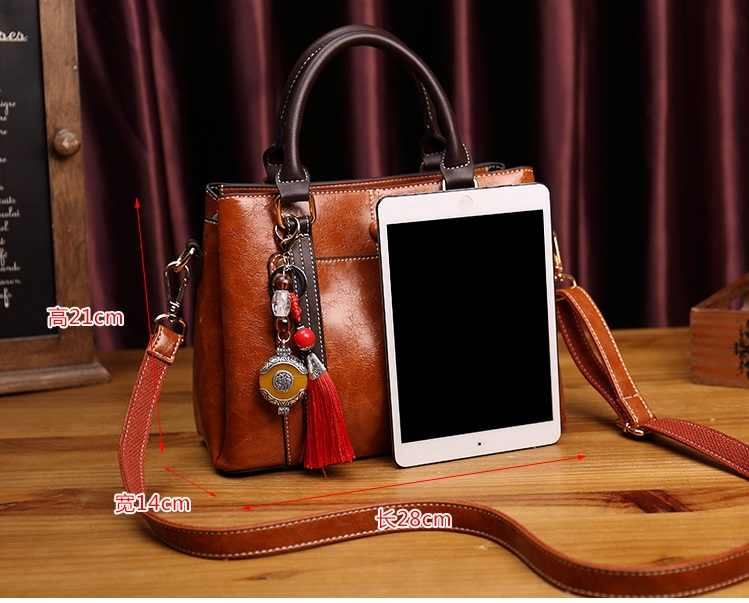 Echt Lederen Schoudertas Handtassen Vrouwen Vrouwen Tas Vintage Grote Tote Cross Hand Tassen Voor Vrouwen Fashion Designer Dames t65