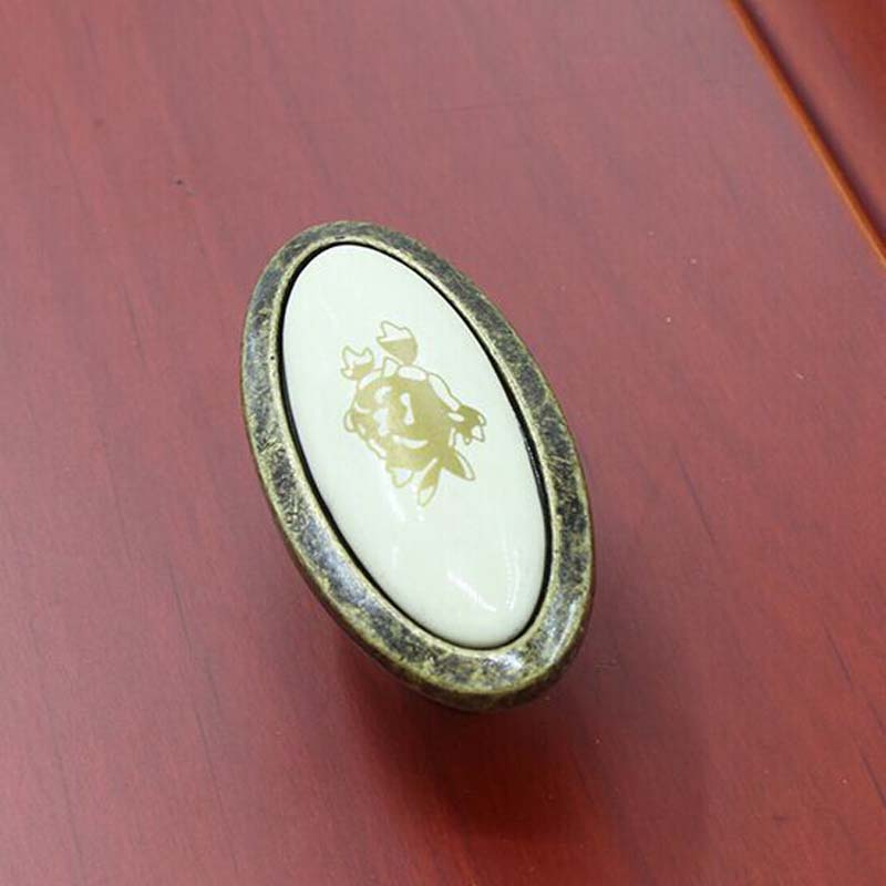 16mm rustico pastorale ceramic drawer kitchen cabinet knob handle bronze dresser cupboard door pull antique brass furniture knob