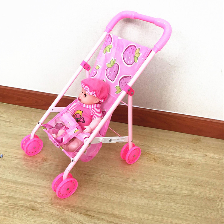 Baby Toy Stroller Girl Doll Trolley Half Lying Baby Doll Stroller for Kids Pretend Play Furniture Toys Doll Play Miniature Toy