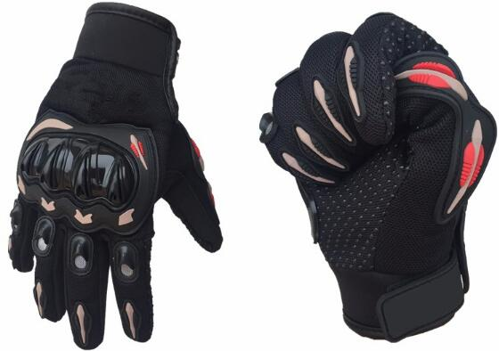 QCHENKIWEI 'Full Finger' motociklininkų pirštinės motokroso 'Luvas Guantes' 'Green Orange Motocross'