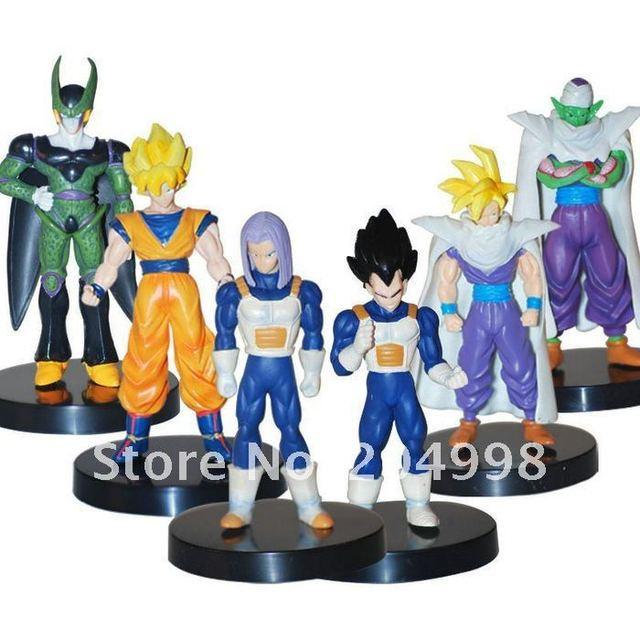 "Anime Dragon Ball GT 5.3"" Goku Vegeta PVCAction Figure Collection Kids toy  ( 6 pcs/set )"