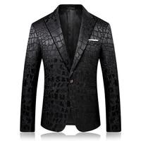 Pattern Jacquard Leopard Blazer Men Prom Party Club Slim Fit Blazer Hombre Suit Jacket Men High Quality Vetement Homme 2019 4xl