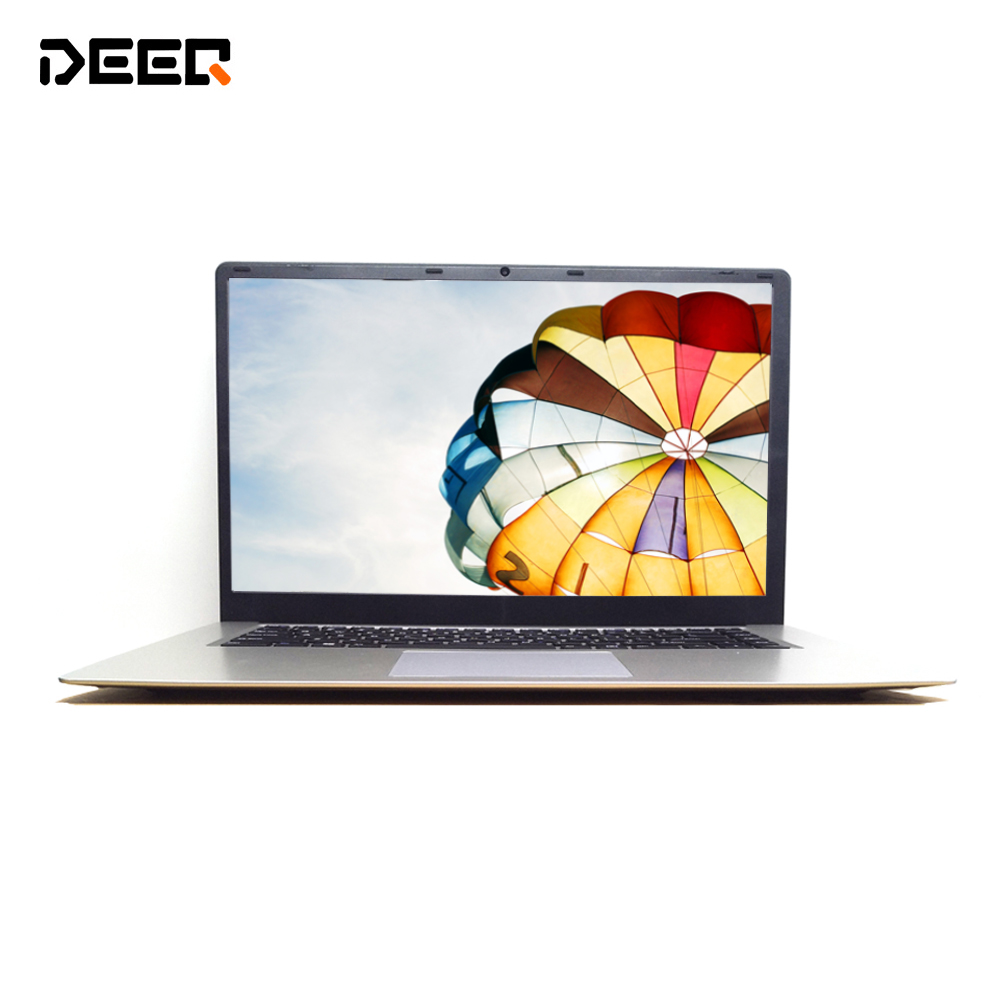 DEEQ 15.6 pouces ultraslim ordinateur portable 2G 32G SSD grande batterie HD Windows 10 activé Caméra WIFI bluetooth portable ordinateur netbook