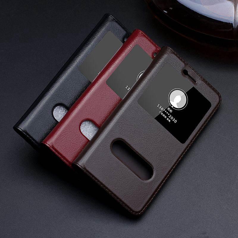 imágenes para Caja Del Cuero genuino Para Huawei Honor 8 Caso Del Tirón Lite Cubierta Protectora magnética Para Honor 8 Lite Bolso Del Teléfono Ventana de Visualización caso