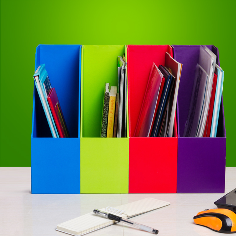 Colorful Wooden File Holders Creative MDF Copperplate