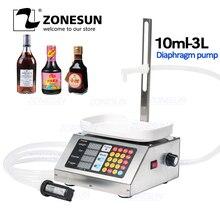 ZONESUN 110 V-220 V 10-3000ml полуавтоматическая бутылка для напитков, минеральной воды, молока, напитков, наполнителя жидкого веса, Гравитационный насос, парфюм, взвешивающая упаковочная машина