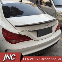 Carbon Fiber Car Spoiler Mercedes CLA W117 AMG Style Replacement Cf Rear Trunk Wing Spoiler For