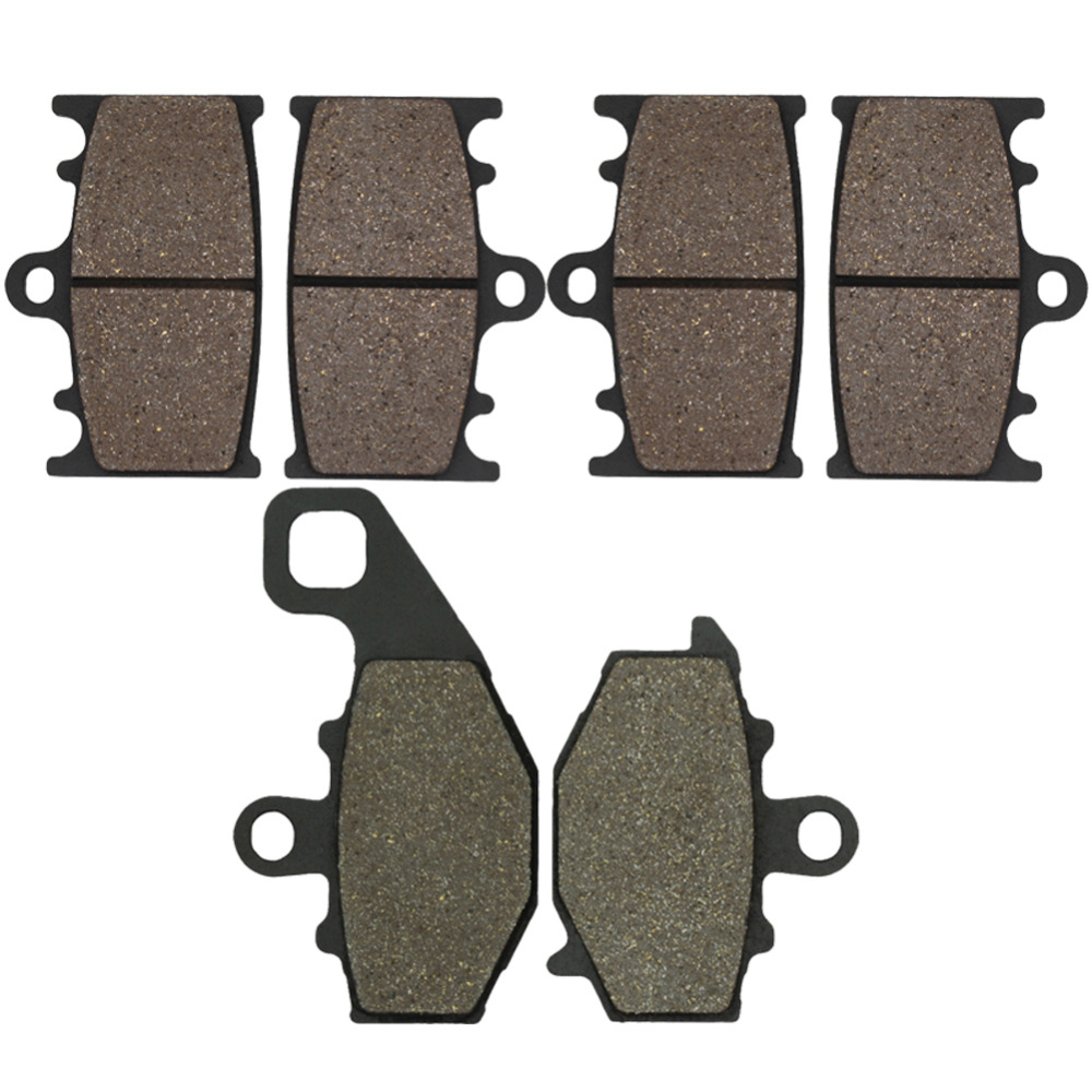 Cyleto Motorcycle Front and Rear Brake Pads for Kawasaki ZZR400 ZX400N 1993-1999 ZR 400 Zephyr 1997-2001 ZZR600 ZX600 1993-2007 motorcycle front and rear brake pads for yamaha xvs 1300 ctw ctx v star 1300 tourer 2007 2010 black brake disc pad