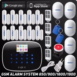 2019 متخصصة Kerui IOS الروبوت APP نظام إنذار لا سلكي للتنقل RFID اللون عرض السيارات الهاتفي النص لص الدخيل الأمن إنذار