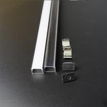 10 30 zestaw/partia 2m 80 cal czarny anodowany profil aluminiowy LED dla 12/24v płaski slim aluminium kanał, 90/180 stopni złącze