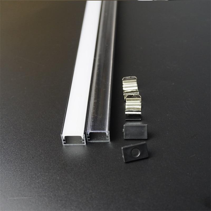 10-30set/lot 2m 80inch Anodized Black Led Aluminium Profile For 12/24v Strip Flat Slim Aluminum Channel, 90/180 Degree Connector