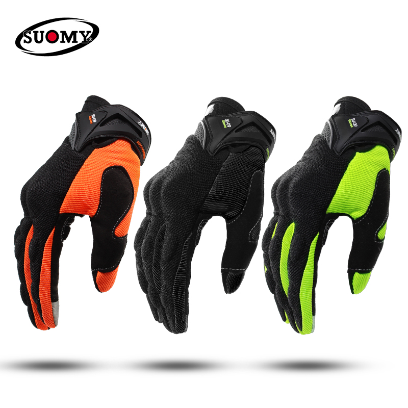 SUOMY NEW Motorcycle Gloves Green Motocross Racing gloves Full Finger Cycling guantes moto Motorbike Summer luvas da motocicleta