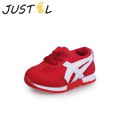 JUSTSL/Детская осенняя горячая Распродажа, удобные кроссовки с сеткой для мальчиков и девочек, модные кроссовки для детей, обувь для малышей