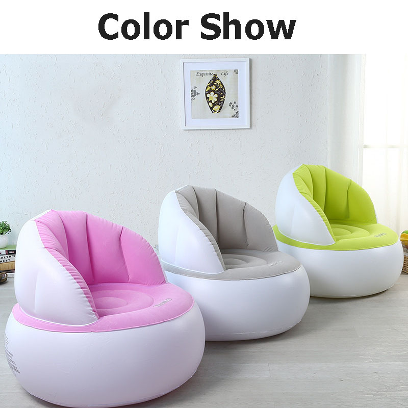 M.J LIUNIAN Baby Inflatable Sofa With Patching Inflated Tools Kids Sofas Newest Babies Seat Chair Infant inflation Bean Bag