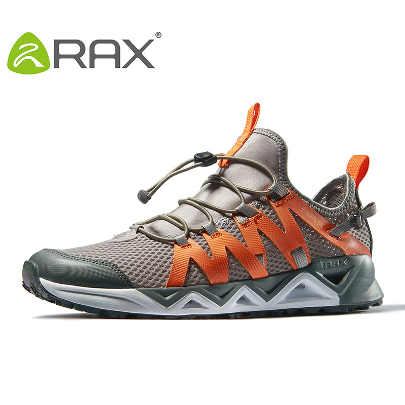 Rax Men's Aqua Upstreams Shoes Quick-drying Breathble Fishing Shoes Women Hole PU Insole Anti-slip Water Shoes 82-5K463