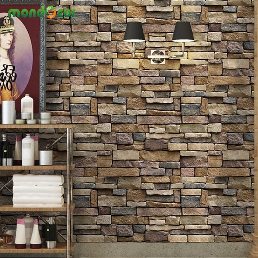 Modern Vintage Brick Stone Pattern PVC Wall Stickers Bathroom Kitchen Self adhesive Wallpaper For Living Room Bedroom Home Decor bathroom kitchen wallpaper home decor diy self adhesive tile stickers