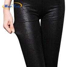 Maternity Snakeskin Pants Pregnant Women Leggings Faux Leather High Quality Slim High Elasticity Leggins For Pregnancy