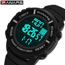 PANARS Sport Watches Men Chronograph Men Watch Waterproof Electronic Wrist Watches For Swimming Male LED reloj Digital hombre panars pedometer watch men outdoor sports watches for running 50m waterproof led clock male wristwatch mens reloj digital hombre